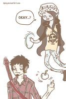 Trafalgar Law and Marceline ? by iiping
