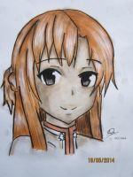Redrawn - Asuna by StrawberriNinja