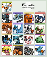 Favorite pokemon of each type