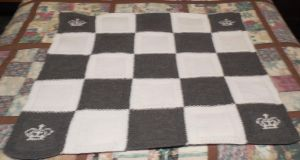 Crown Baby Blanket Knitted by crochetamommy