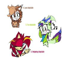 Sonic Female Adoptables by rawr39