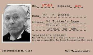 1st Doctor's Library Card by pfeifhuhn