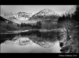 Lake Side Mountain View mono by Photo-Joker