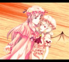 Remilia and Patchouli by A-Asahina777