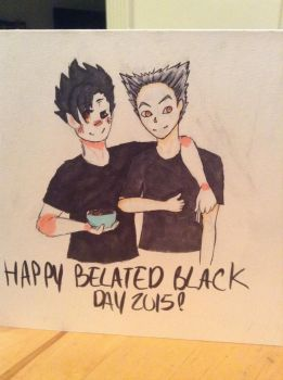 Collab: Happy Belated Black Day, Bro! by noxioustrash