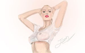 Kate Upton draw and painting by Joesh13