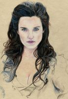 BBC Series Merlin - Morgana WIP2 by Pevansy