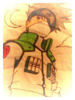 Kakashi Hatake (almost colored) by KakashiXIrukaLover14