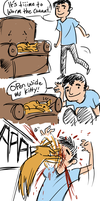 Worming a cat by Mr-Xvious