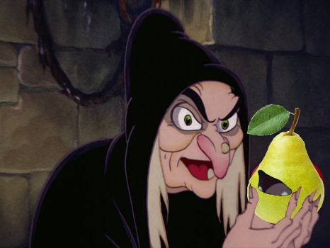Evil Queen Preapares Poison Pear! by Emiliobambi