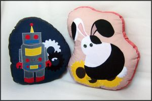 Bot + Bunny Pillows by 2sadsexually