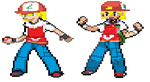My Trainer Battle sprites by senordunut