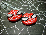 Spiderman Necklaces by GrandmaThunderpants