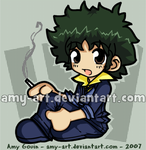 Spike - Cowboy Bebop by amy-art