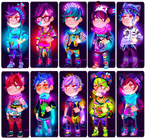 [CLOSED] NEW NEON PUNK ADOPTABLES 003 by txunnpae