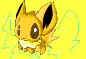 Jolteon in MS Paint by Chaomaster1