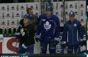 james van riemsdyk and Morgan rielly at practice by Musicislove12