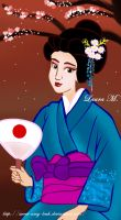 Geisha Disney Princess by Sweet-Amy-Leah