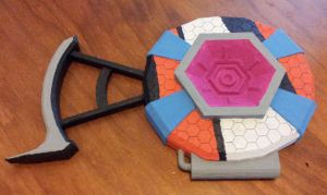 Flame of the Firehawk shield 3D printed by DJBrowny
