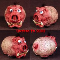 Rot Tusk Piggy Bank small OOak by Undead-Art