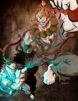 Akuma vs. Evil Ryu by TedKimArt