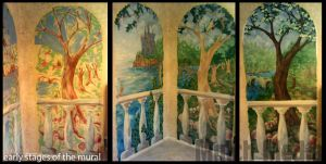 Making of photos: Mural - tree panel by MulchMedia