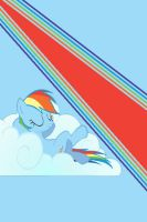 Rainbow Dash Relaxation iPod/iPhone Wallpaper by AlphaMuppet