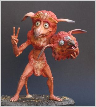 labyrinth firey  sculpture clay fireys by yotaro-sculpts