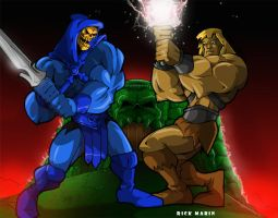 He Man and Skeletor by Misterho