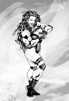 Red-SheHulk version gray by Rafael0381