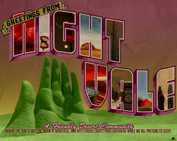 Greetings from Night Vale Postcard by ASingleBrokenFrame