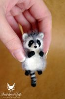 Tiny raccoon I by SaniAmaniCrafts