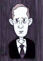 HP Lovecraft marker portrait by JesseAcosta
