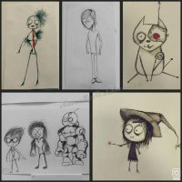 My Tim Burton inspired sketches  by ShikiCreations