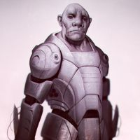 Space soldier sketch by mannequin-atelier