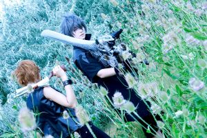 Prompto and Noctis by Karumen-Chan