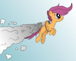 Scootaloo Ascending by Mortris