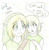 Link and Saria from UO by SparxPunx