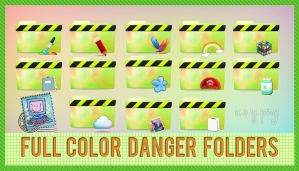 FULL COLOR DANGER FOLDERS (ICO PNG) by Compuproblemas