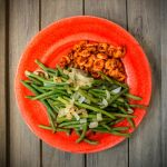 Cajun-inspired shrimps and green beens by attomanen