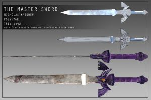 The Master Sword Construction Sheet by nicholasKaighen