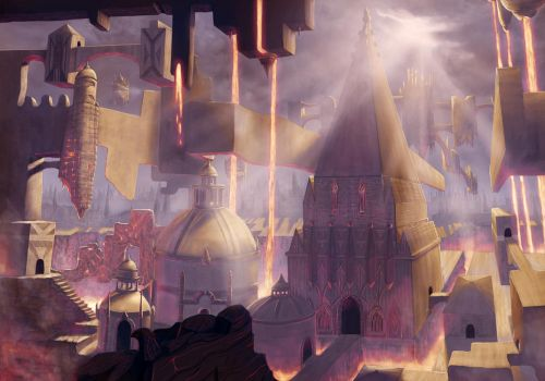 Ravnica on Fire by MarcSolArt