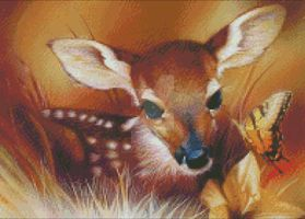 Baby Deer Cross Stitch Pattern by RedheadBeauty