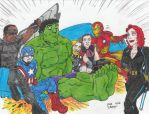 Couch Gag Avengers by Crash2014