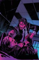 JohnWick #1 cover colors by GIO2286