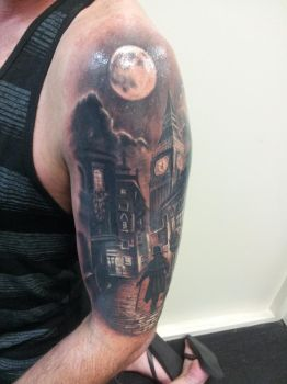 london street theme Tattoo by CalebSlabzzzGraham