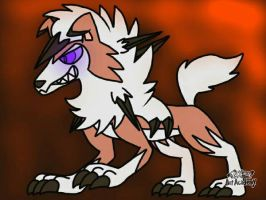 Lycanroc Dawn/Dusk form (midday/midnight fusion) by Nateevee