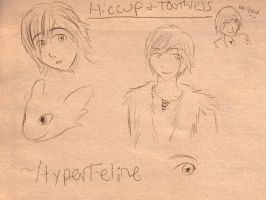Hiccup and Toothless by HyperFeline