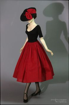 Black and Red Dior themed outfit by scargeear