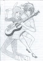 Fionna and Marshall lee :3 by lovelylilteenmusic